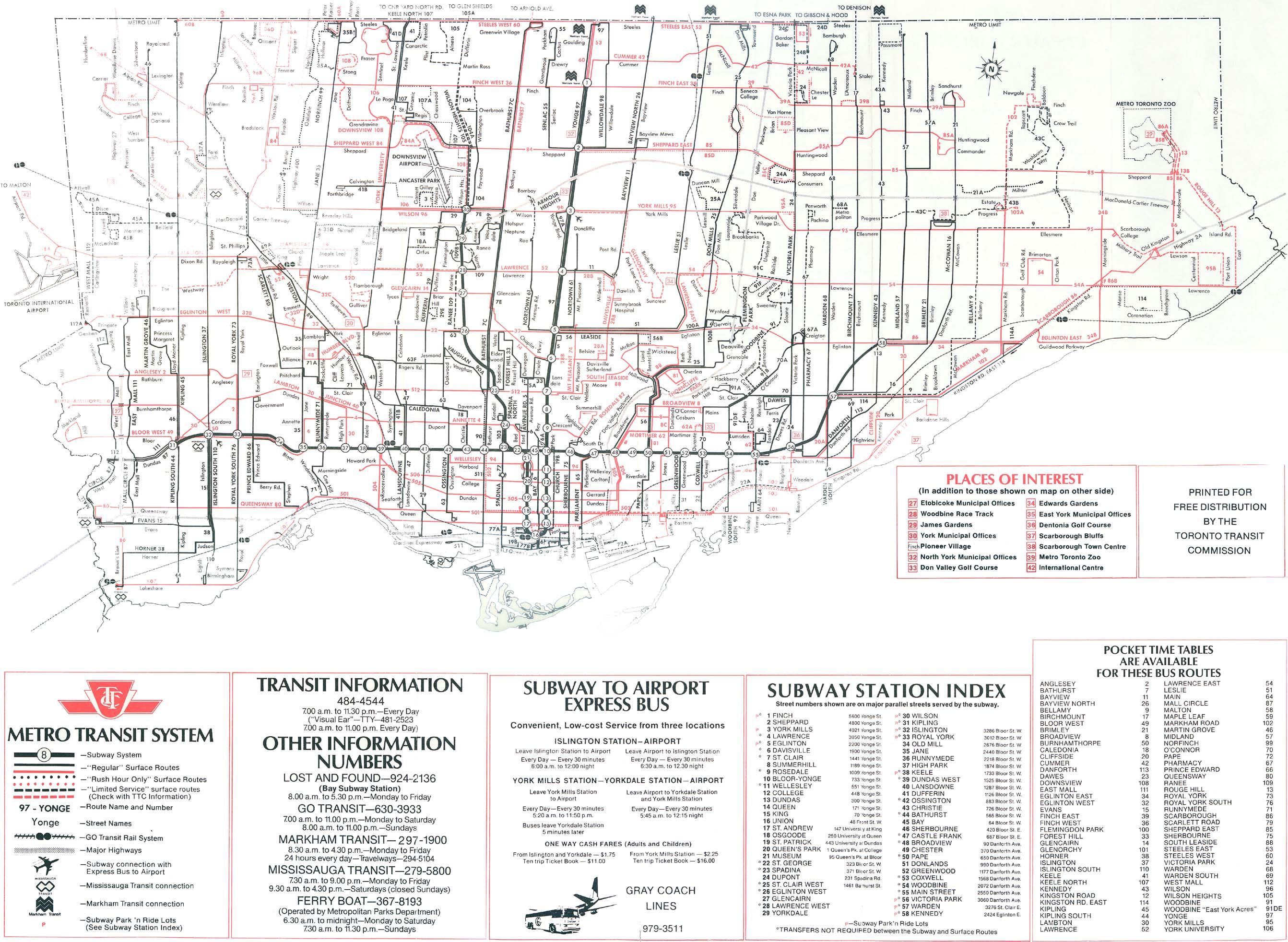 Fantasy Toronto Subway Map.Ttc System Maps Transit Toronto Content