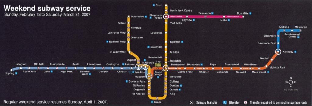 Toronto Ttc Map TTC System Maps   Transit Toronto   Content Toronto Ttc Map