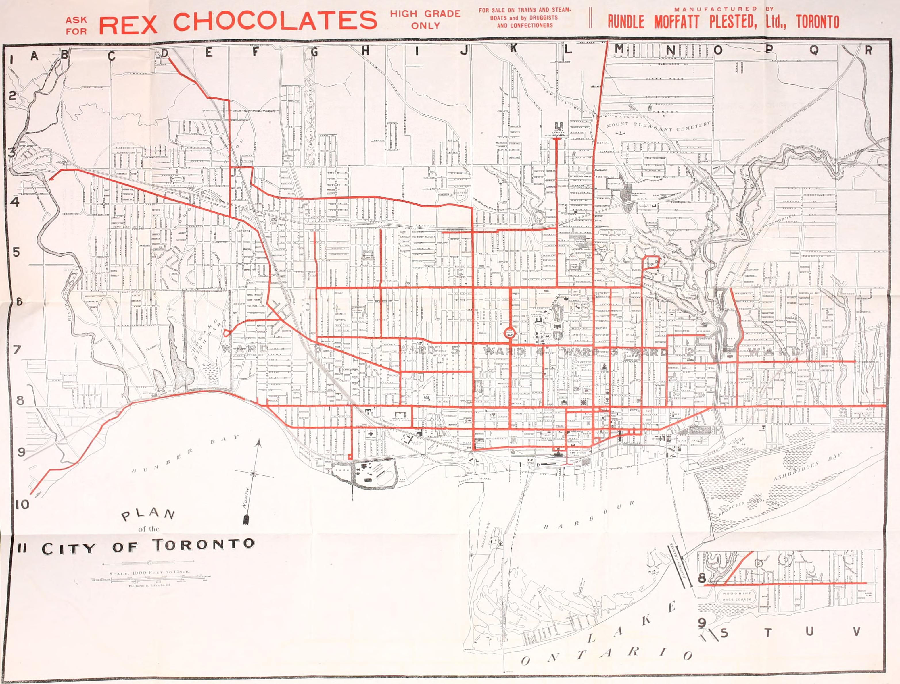 Ttc system maps transit toronto content system map 1912 publicscrutiny Image collections