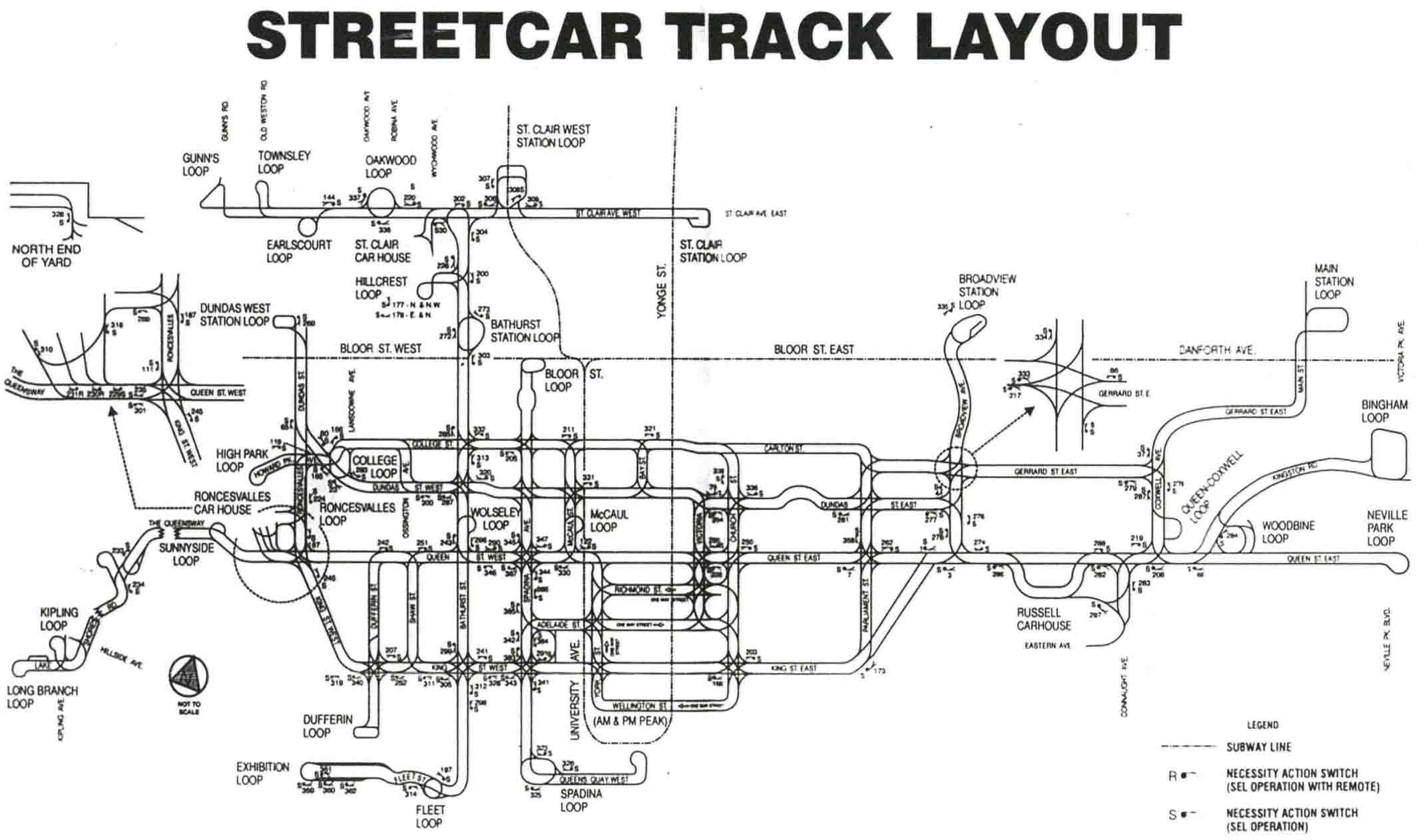 Ttc Subway Map Vs Actual.Ttc Track Diagrams Transit Toronto Content