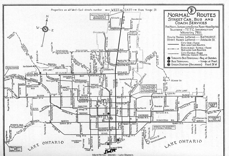 TTC System Maps Transit Toronto Content