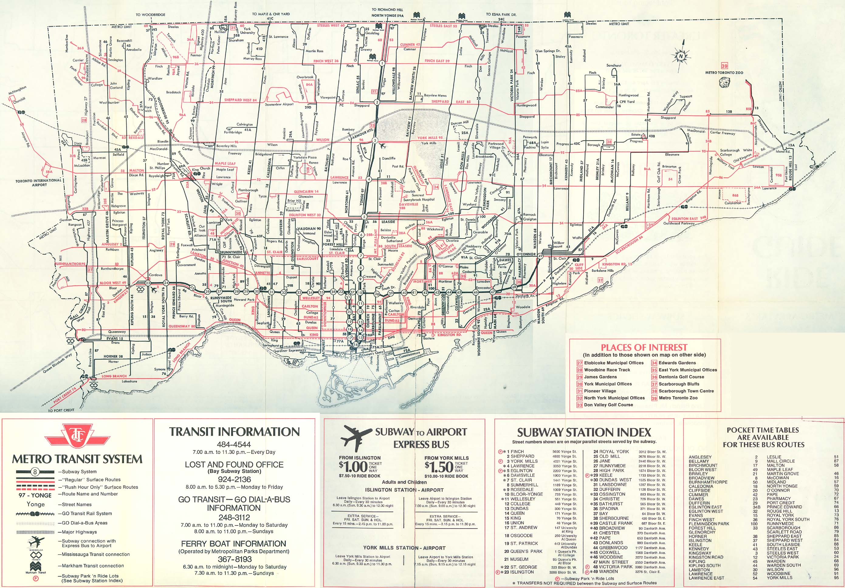 Official TTC System Maps - Transit Toronto - Content Toronto Map