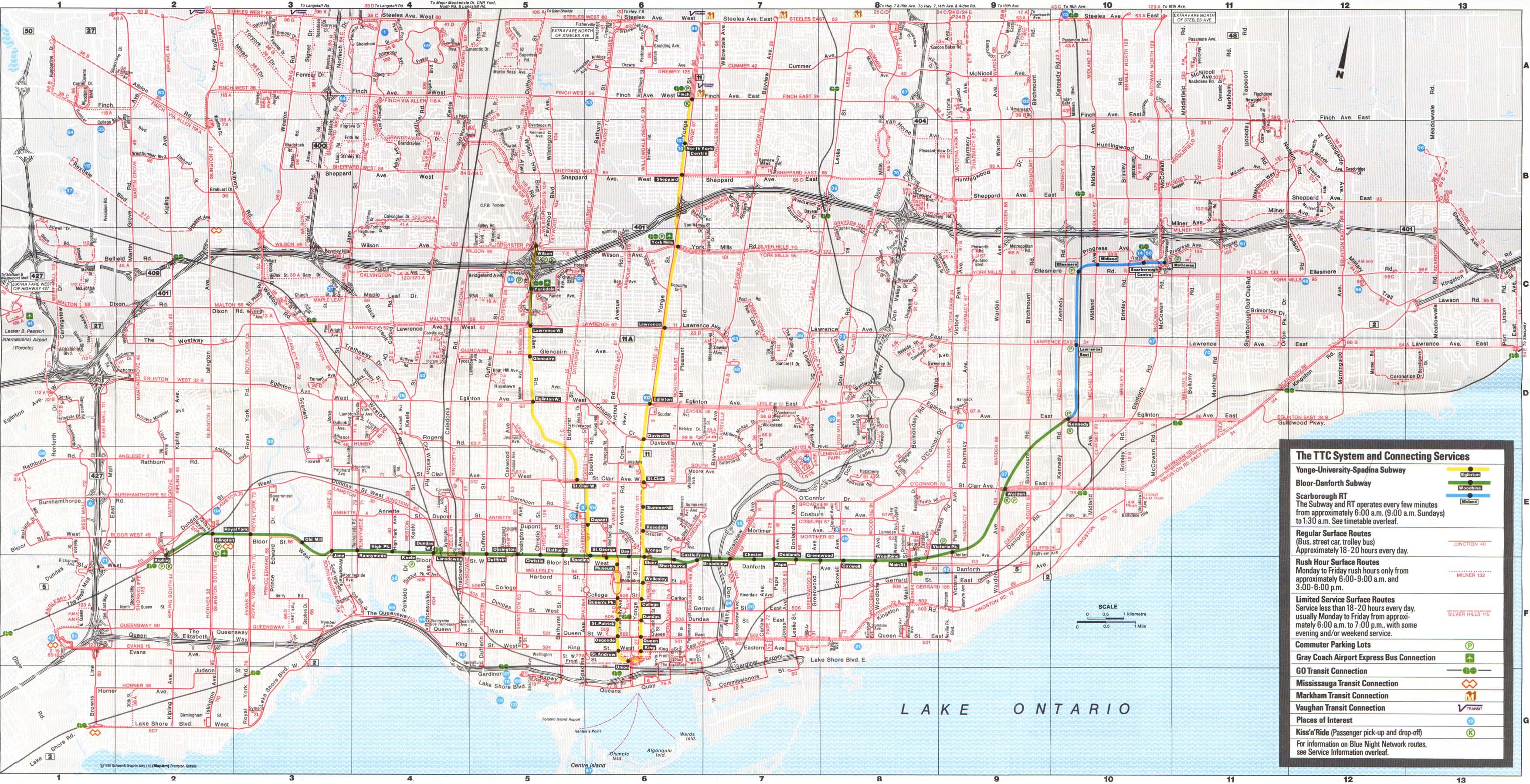 Downtown Boston Map Pdf.Ttc System Maps Transit Toronto Content