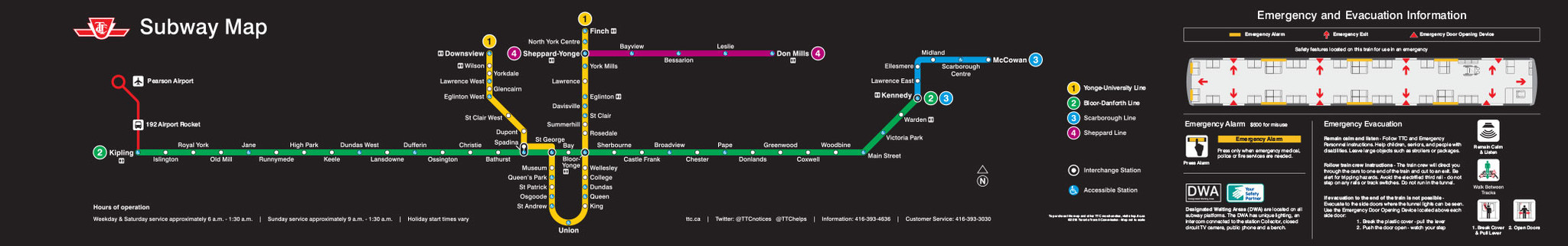 Official Subway Route Diagram ...