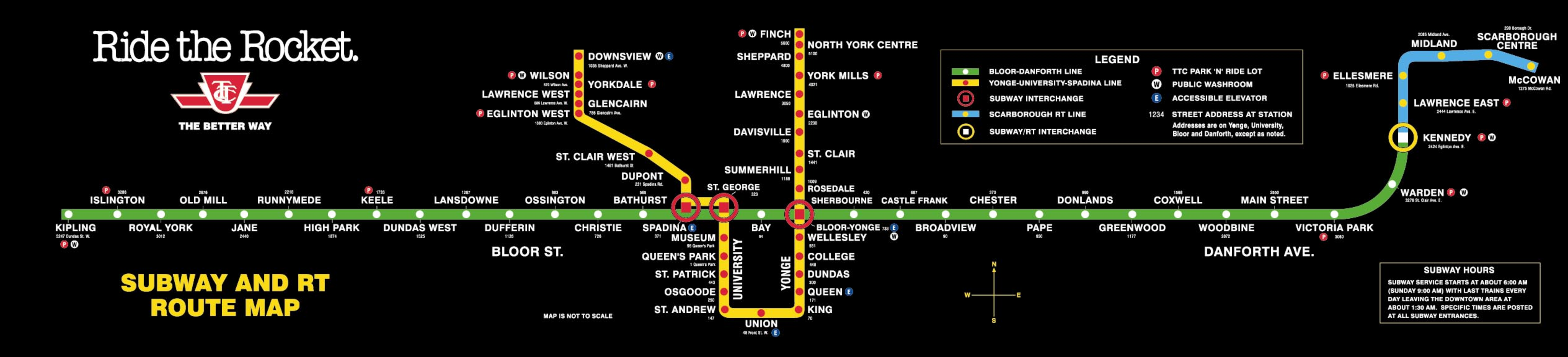 Map Of Ttc Subway
