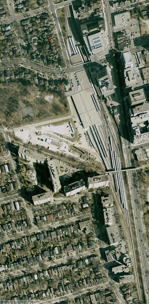 Google Satellite image of Davisville Yards