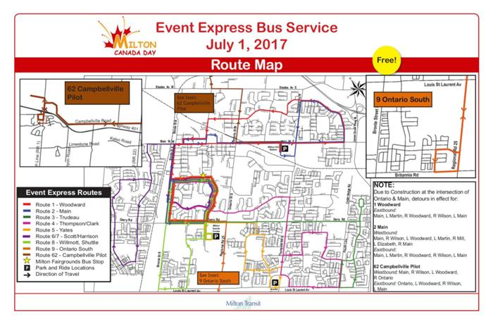 Toronto Subway Map Campbellville To Spadina On.Canada Day Events Affect Transit Services Br June 30 July 1 2