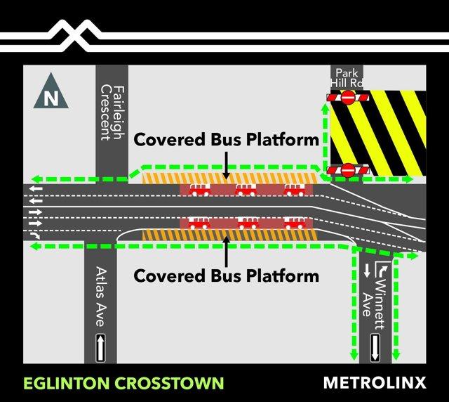 2020 - 03-29 - Cedarvale - Temporary bus platforms on Eglinton Avenue West.jpg