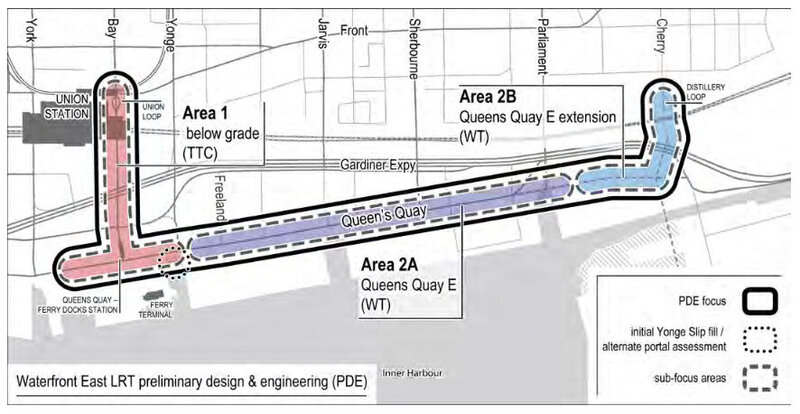 Map of Waterfront East LRT phases.jpg
