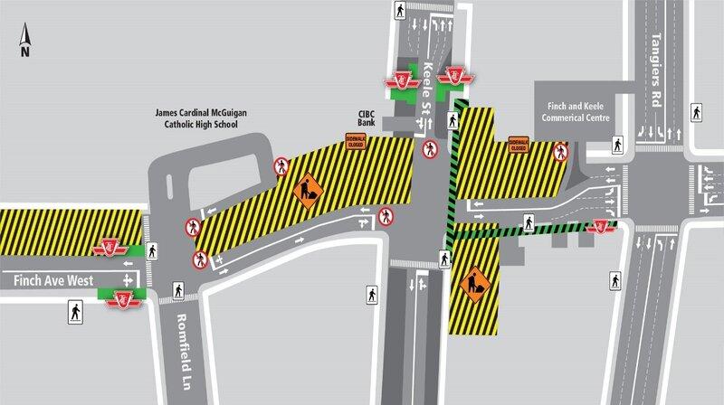 2021 - 07-11 - Finch West LRT - Keele - traffic changes.jpg