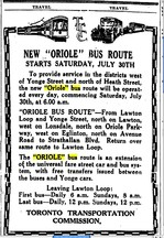 Oriole Advertisement
