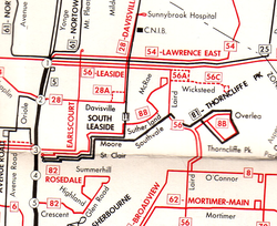 81 Thorncliffe Park map, November 30, 1964