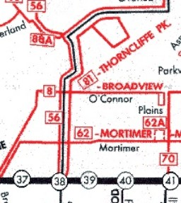 81 Thorncliffe Park map, February 26, 1966