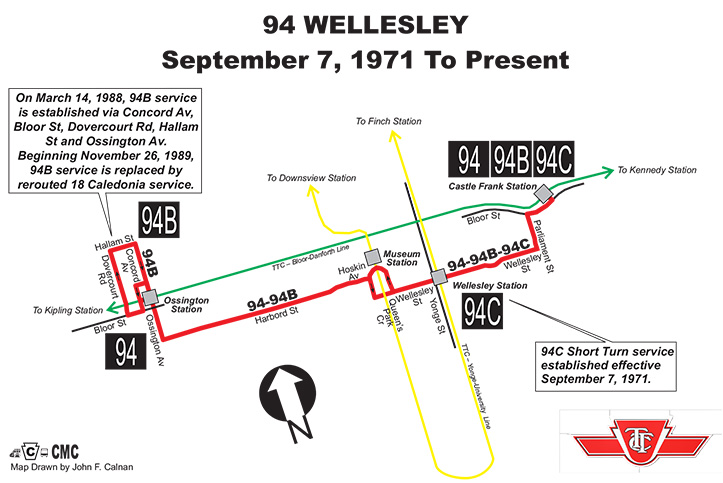 94 Wellesley Transit Toronto Surface Route Histories