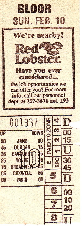 10 Bloor Danforth Night 1966 1987 Transit Toronto