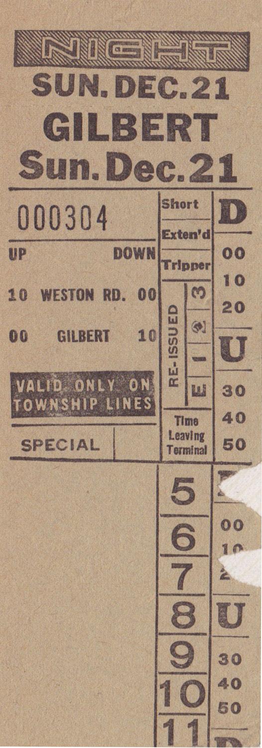 Gilbert 1941 1954 Transit Toronto Surface Route