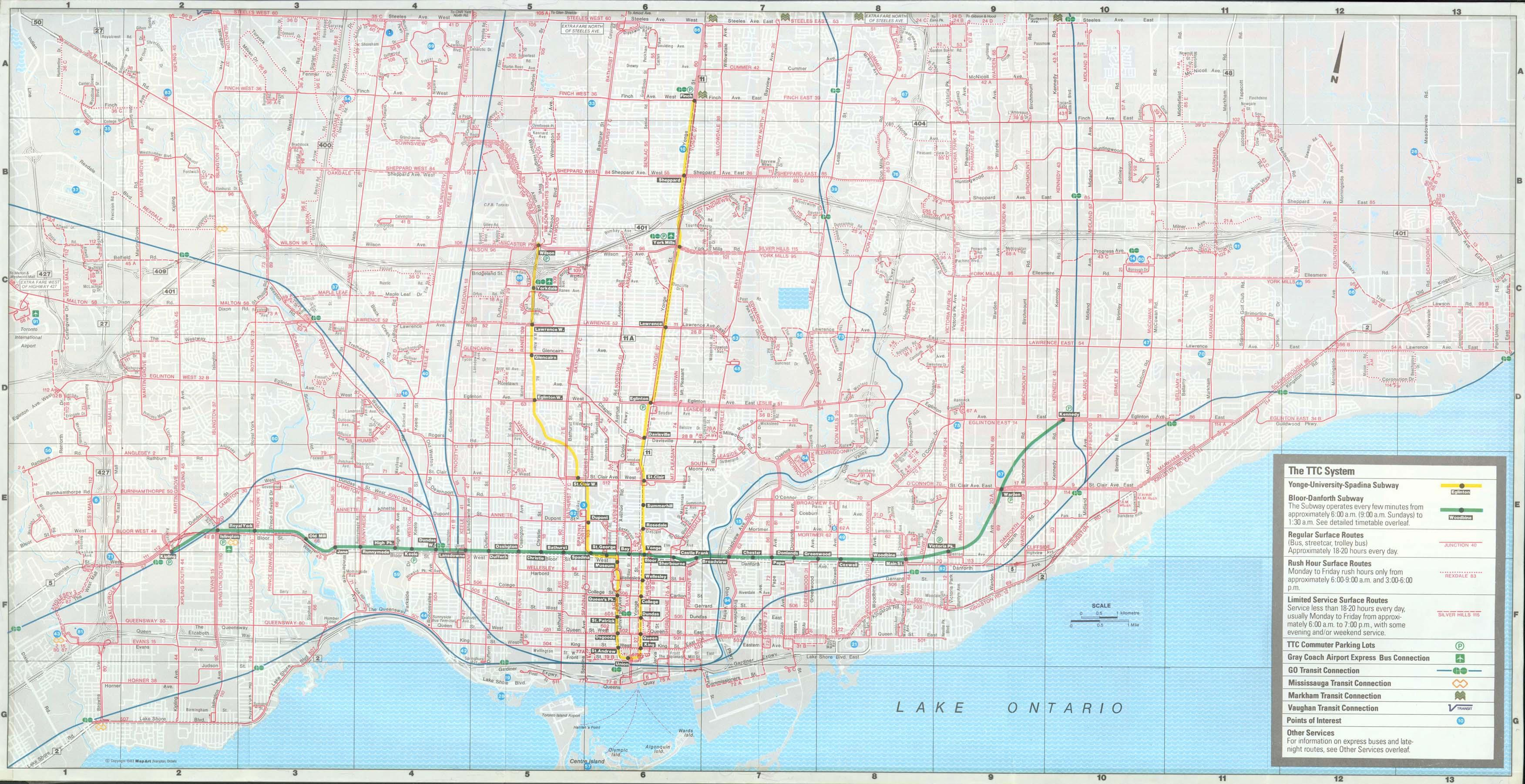 New York City Subway Map February 2004.Ttc System Maps Transit Toronto Content