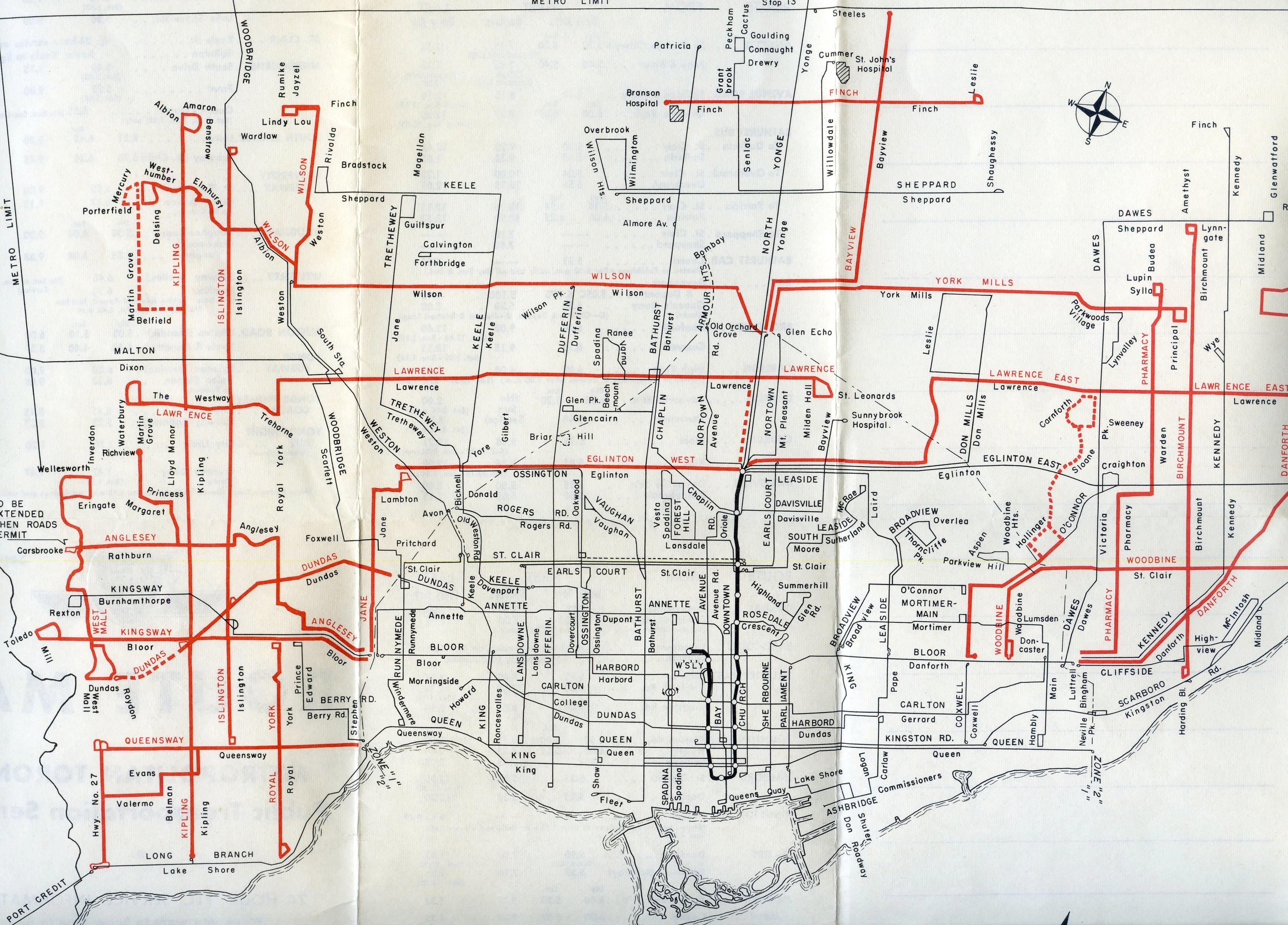 50 Years Of The Suburban Grid Transit Toronto Weblog