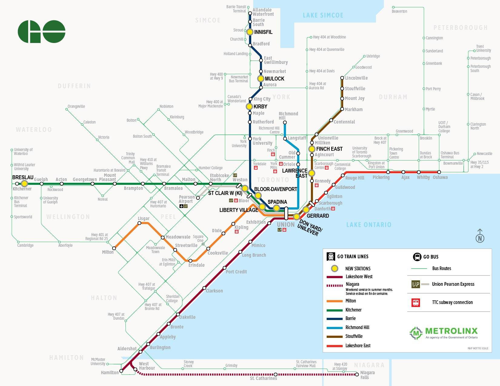 Metrolinx board of directors <br />approves 12 new GO stations ...