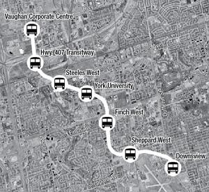 Vaughan Subway Plans