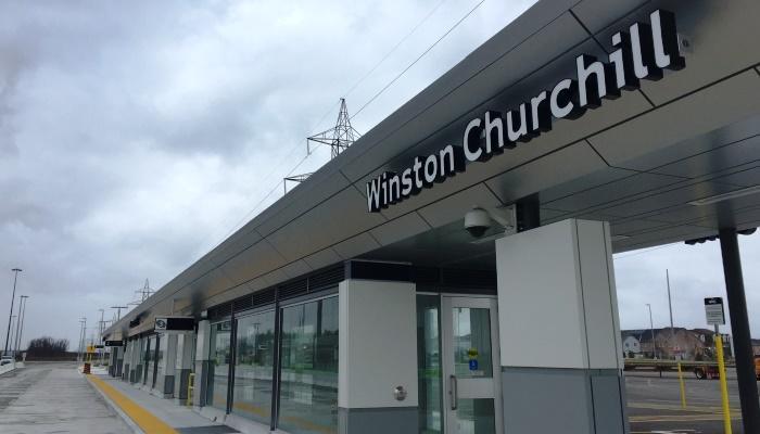 Winston Churchill Transitway Station Opens December 31