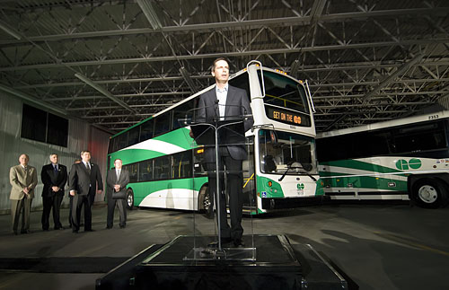 Go S New Double Decker Buses On The Road April 28