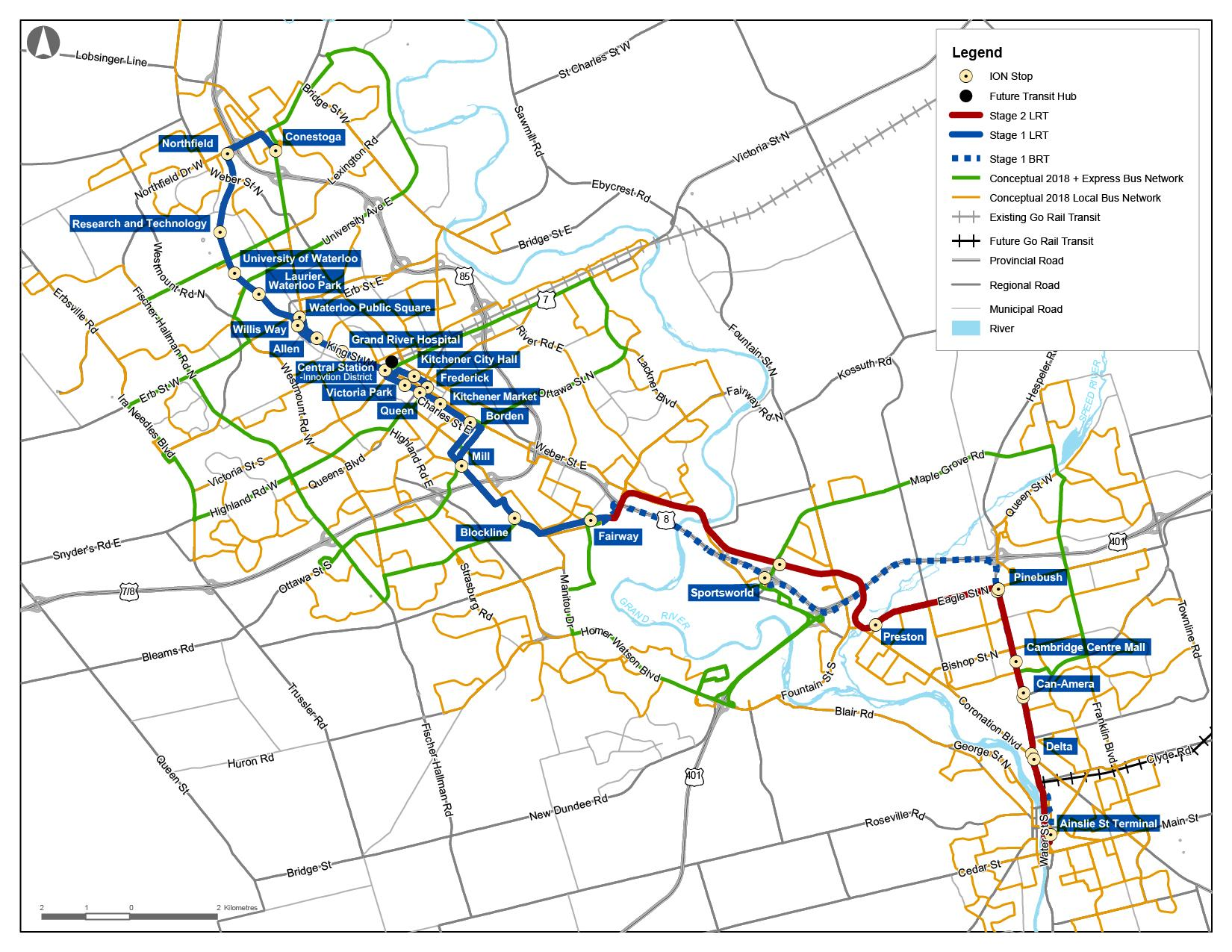 A History of Electric Transit in Waterloo Region including the ION