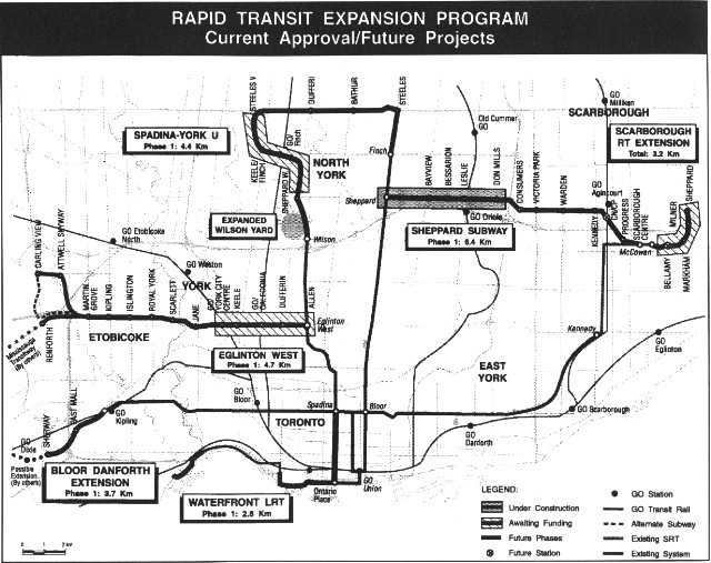 Evolution of the Network 2011 Plan - Image courtesy of Transit Toronto