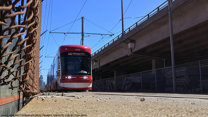 TTC Flexity LRV 4400 at Exhibition Loop