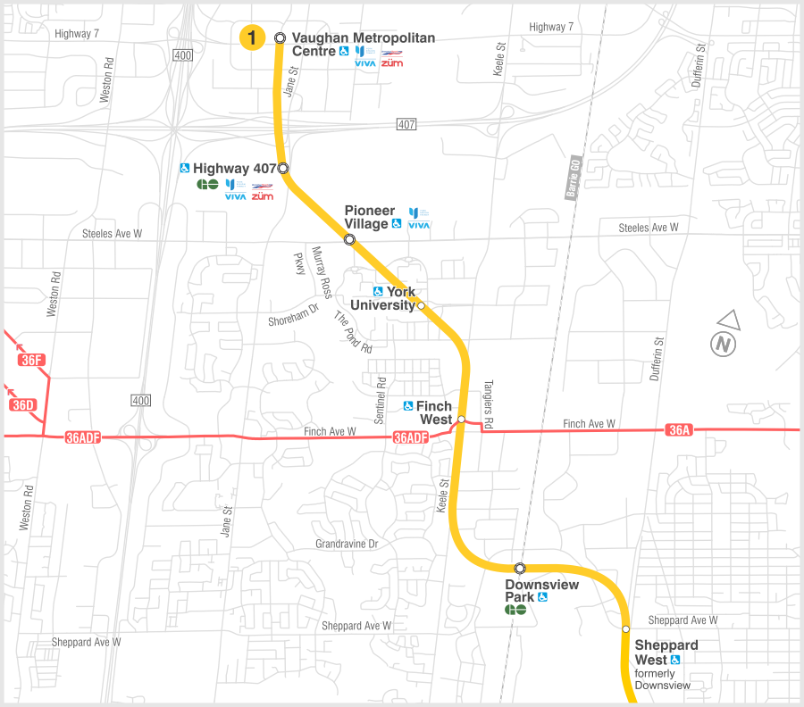 TTC 0000 36 Finch West 20171217 Map