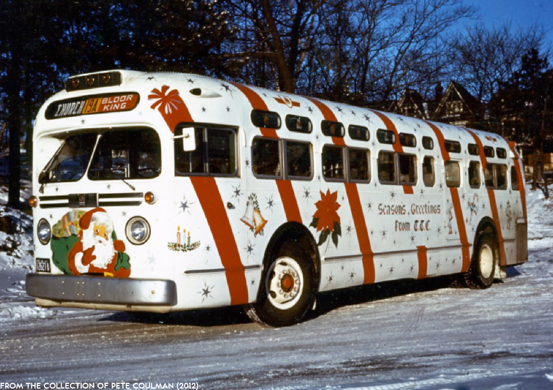 The TTC's Christmas-Painted Buses (1955-1960) - Transit Toronto ...