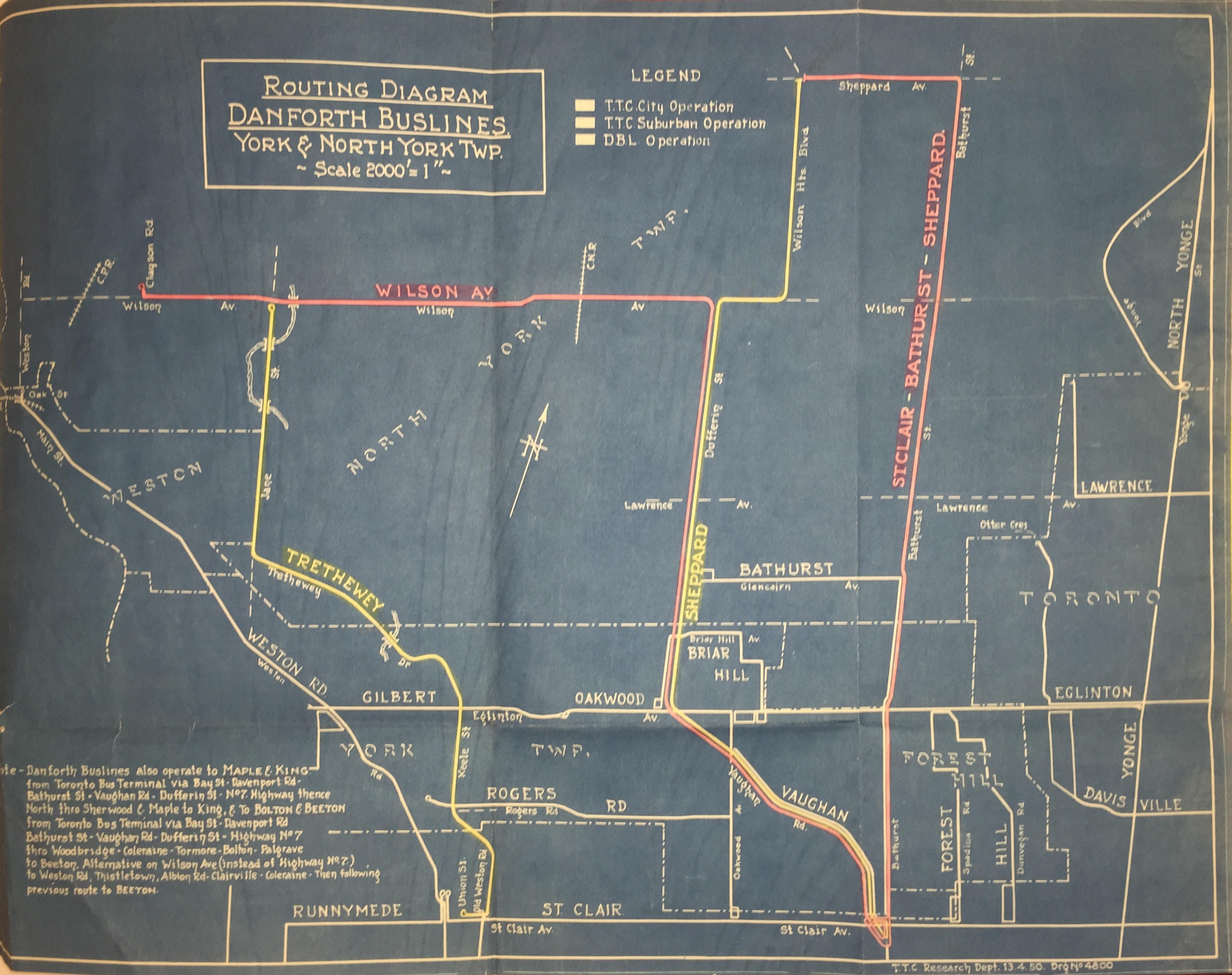 Torontos Forgotten Bus Networks br A Brief History of the non