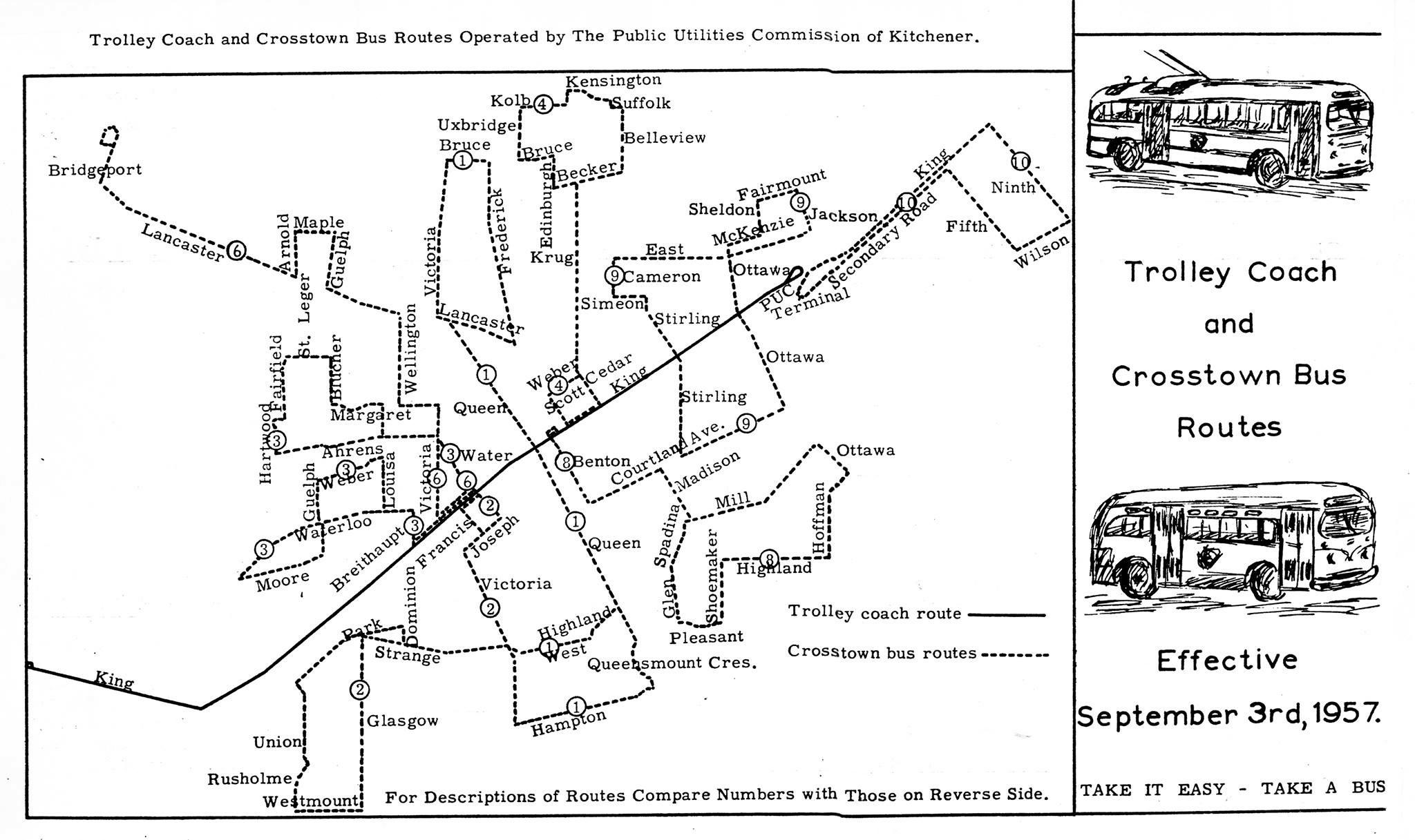 A History Of Electric Transit In Waterloo Region Including The Ion Grt Wiring Diagram Kt Map 19570903