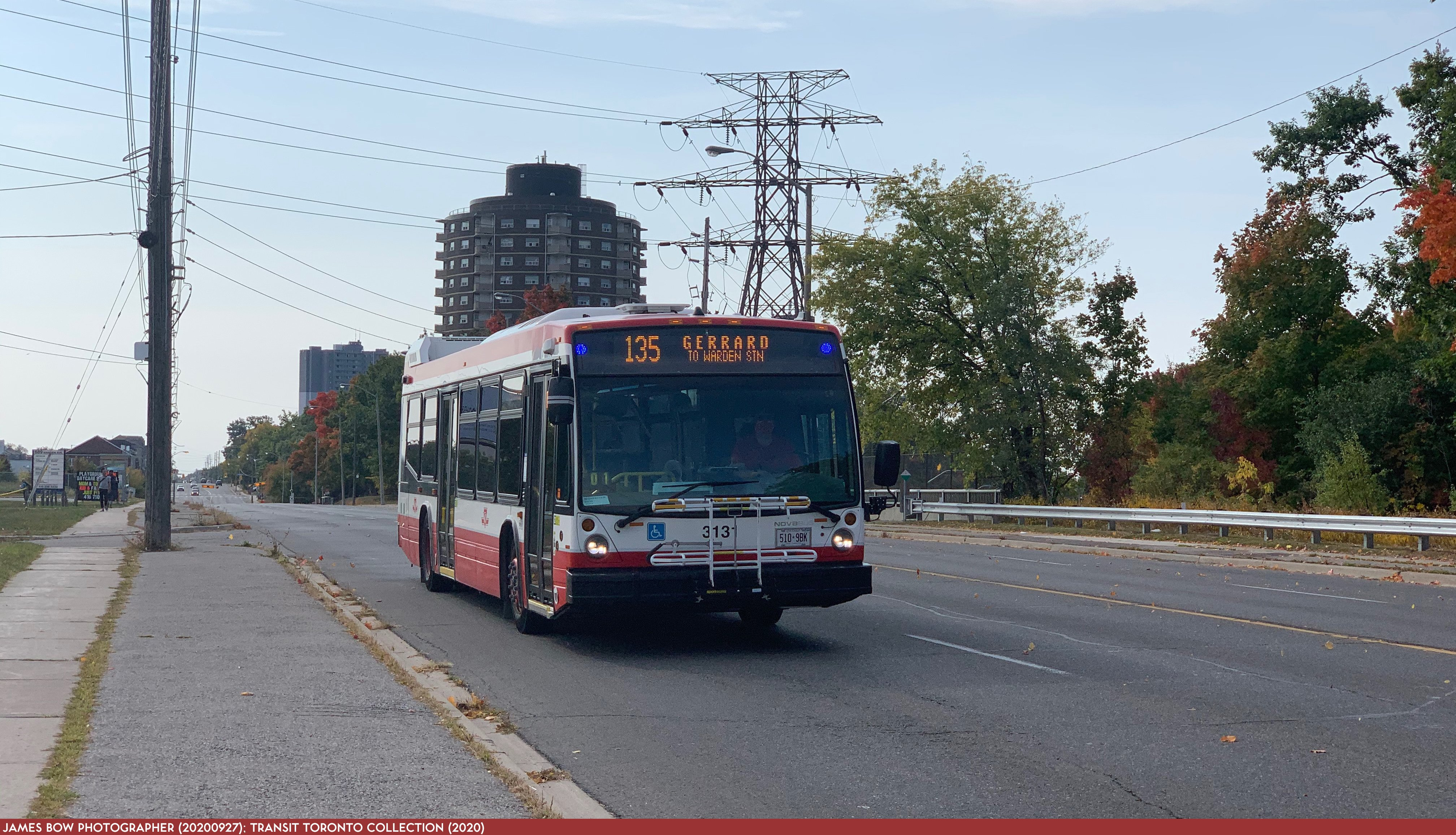 20200927 - 135 Gerrard - 3131 NB on Warden at St. Clair