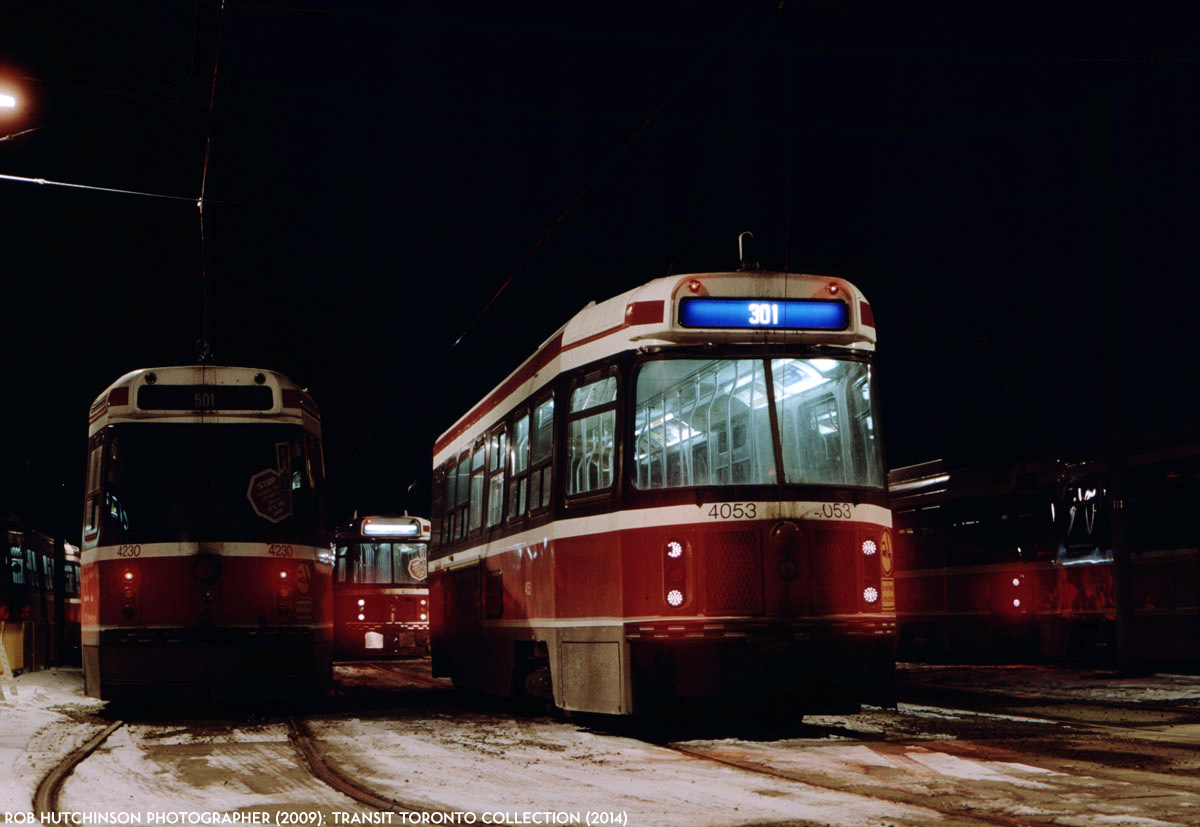 TTC CLRV 4134 sits at Dundas West station, in service on the 306 ...