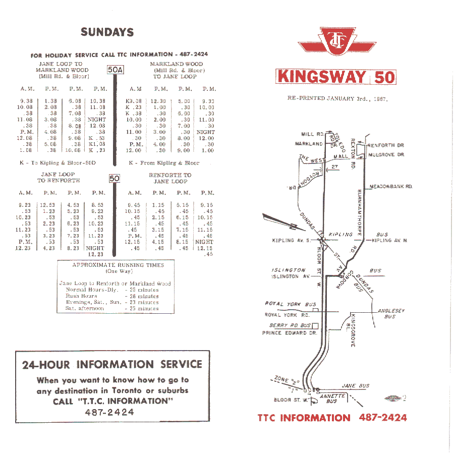 ttc bus 192 map pdf