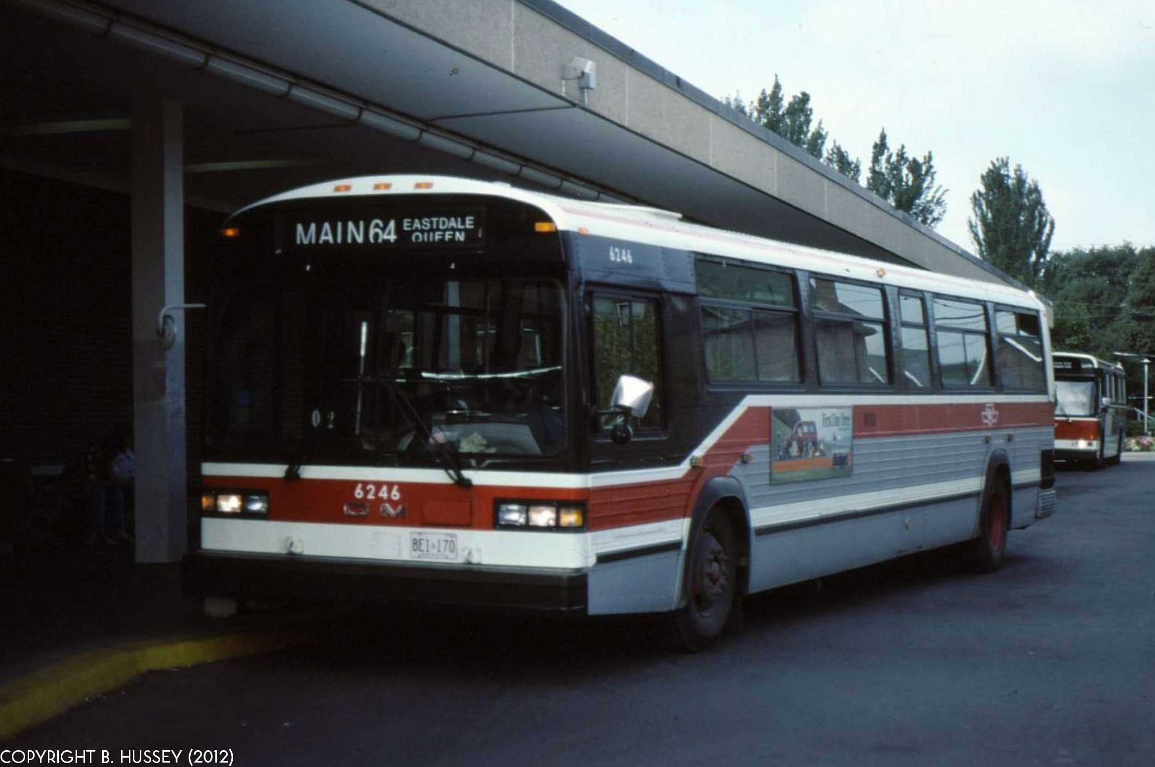 TTC GM Classic #6246 waits at Main Street station in service on 64 ...