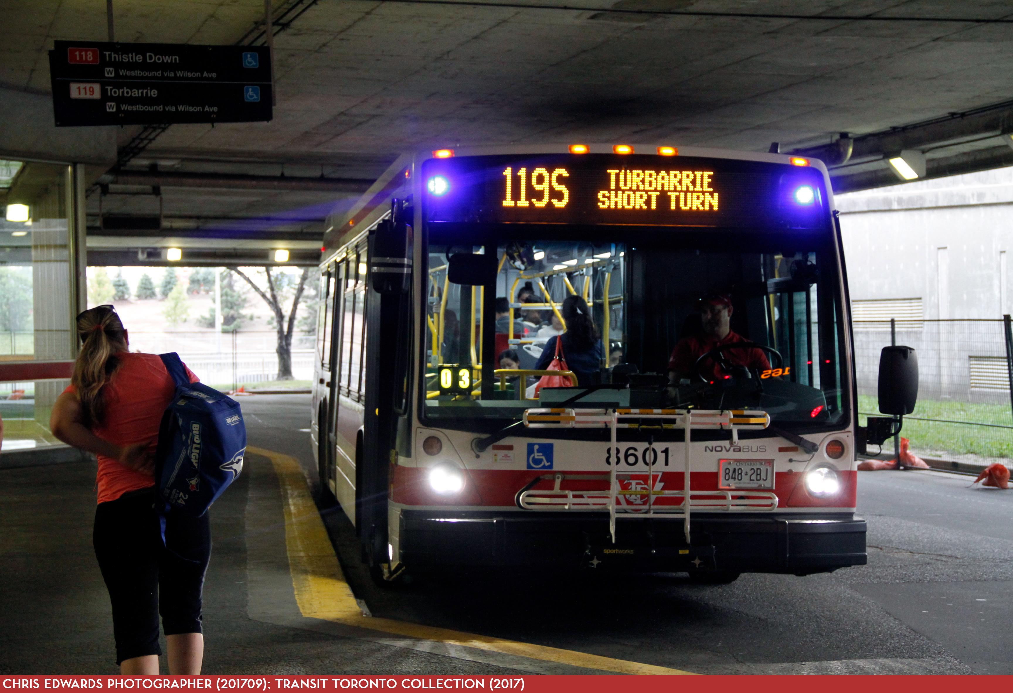 119 torbarrie - transit toronto - surface route histories