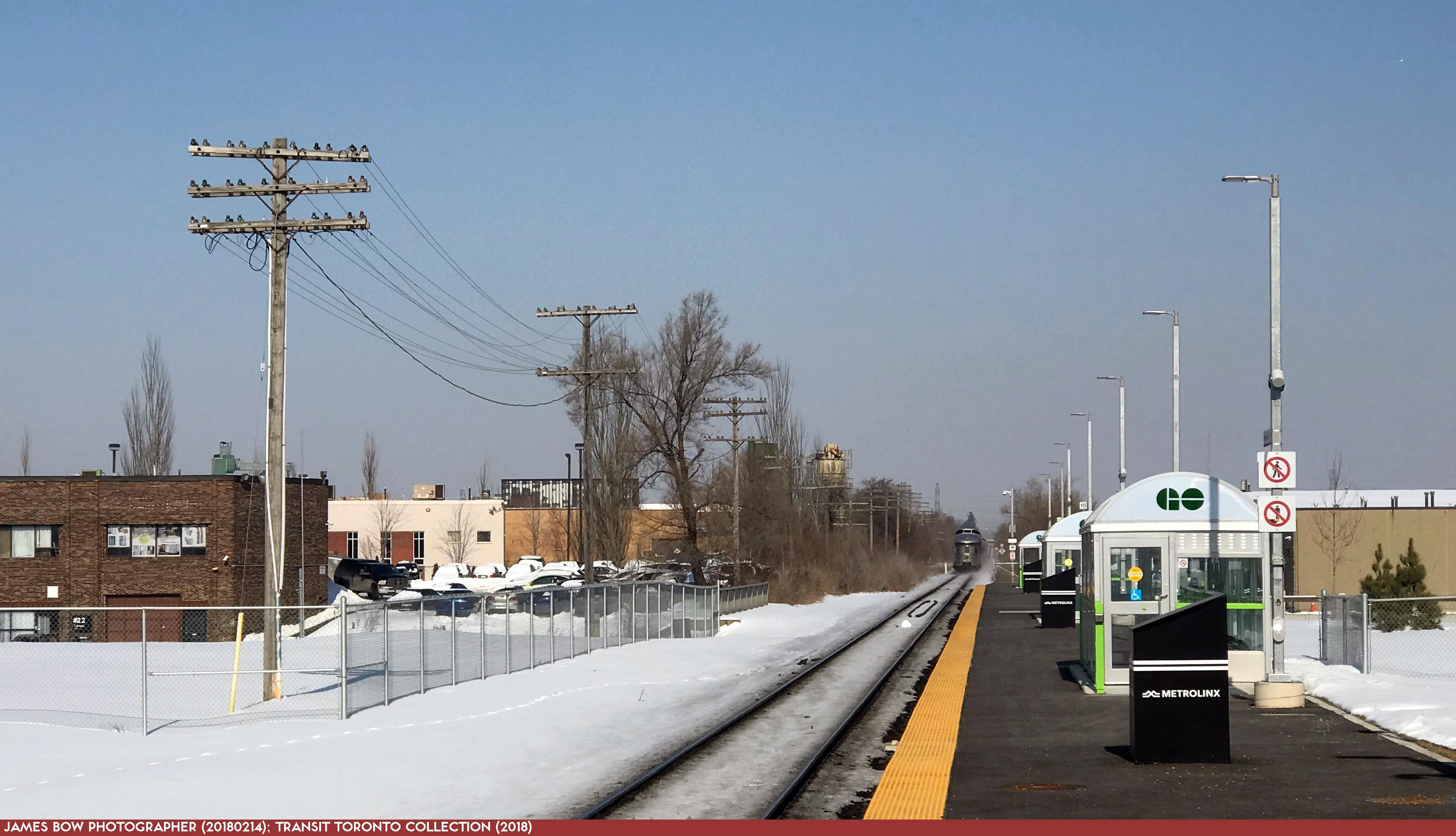 Barrie GO Train - 01 Downsview Park 20180214-2