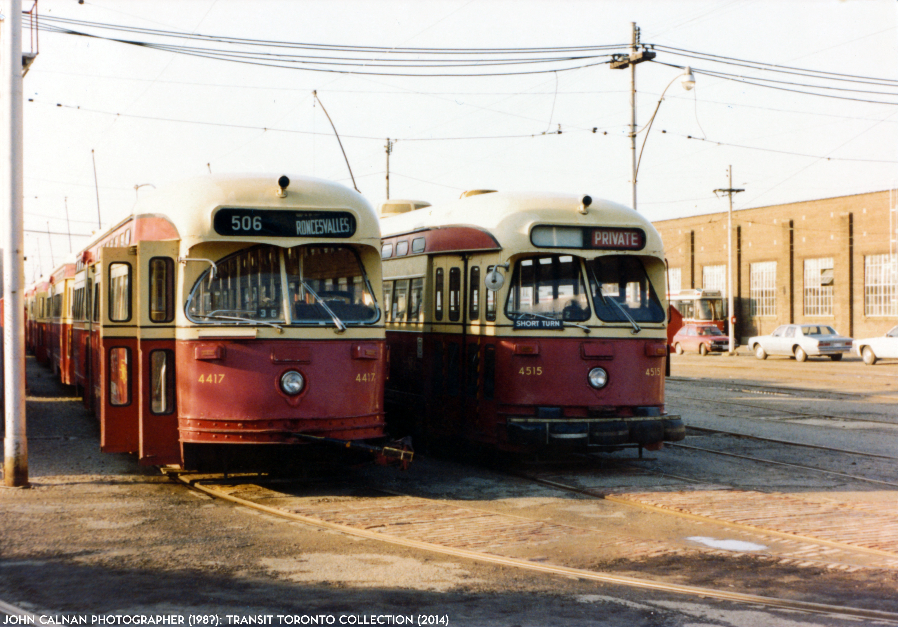 Roncesvalles Carhouse 1983
