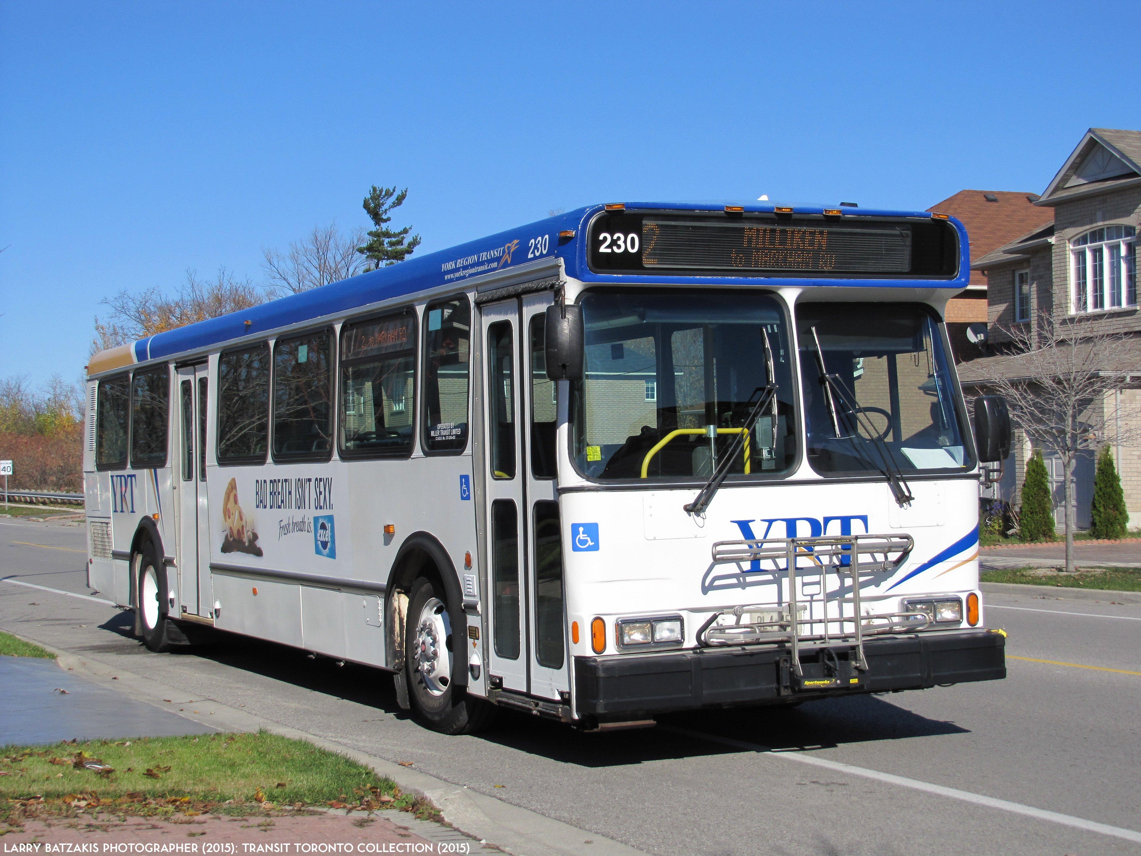 The YRT Orion V Bus #230 Charter (November 2, 2014 ...