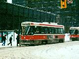 CLRV 4061 picking up passengers at King and Bay
