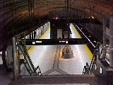 Downsview subway platform, from mezzanine level, looking north