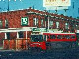 Rebuilt coach 9202 on Yonge Street, photo donated by Brad O'Brien
